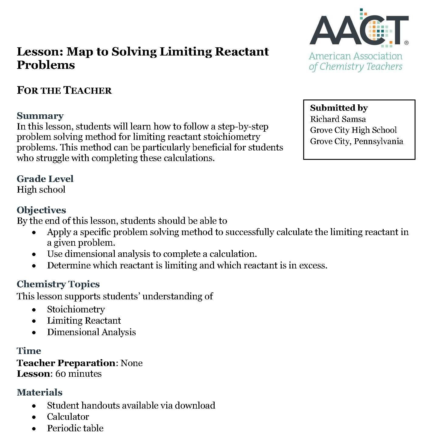 Lesson maptolimitingreactant image