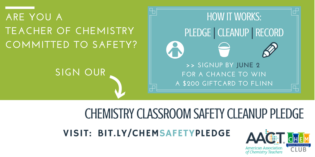 2017 chemistry classroom safety cleanup pledge