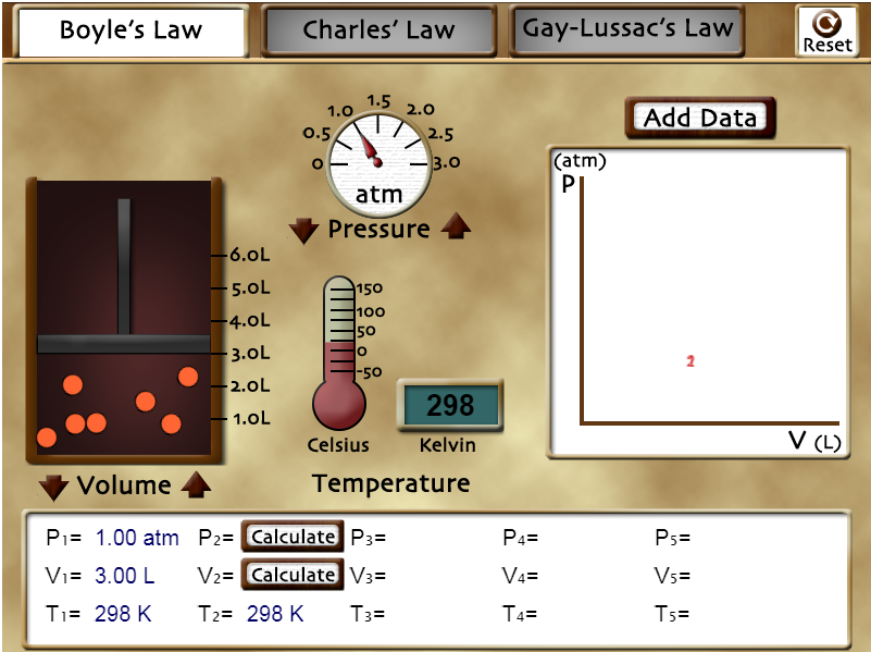 Gas law sim