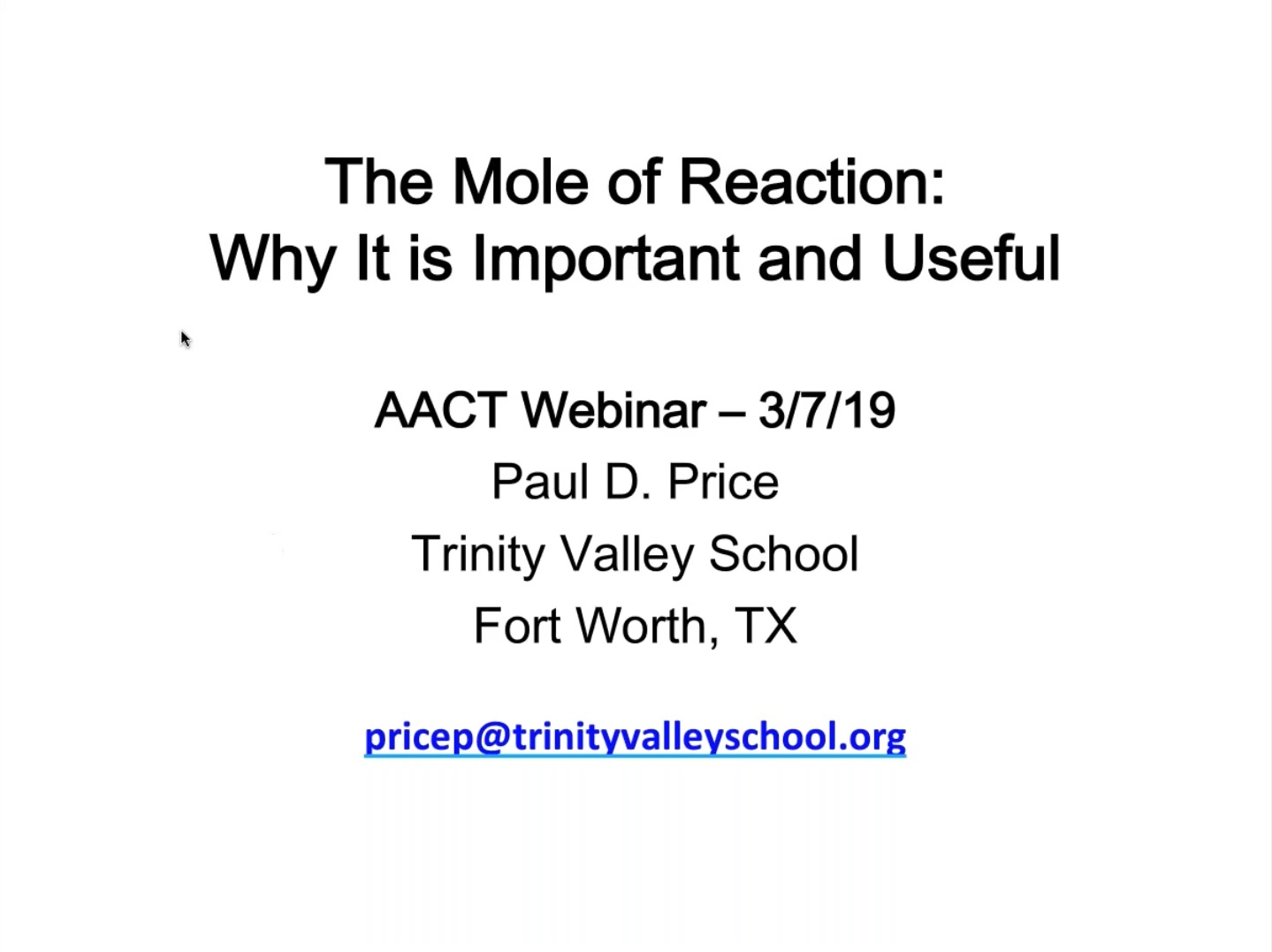 Mole reaction thumbnail