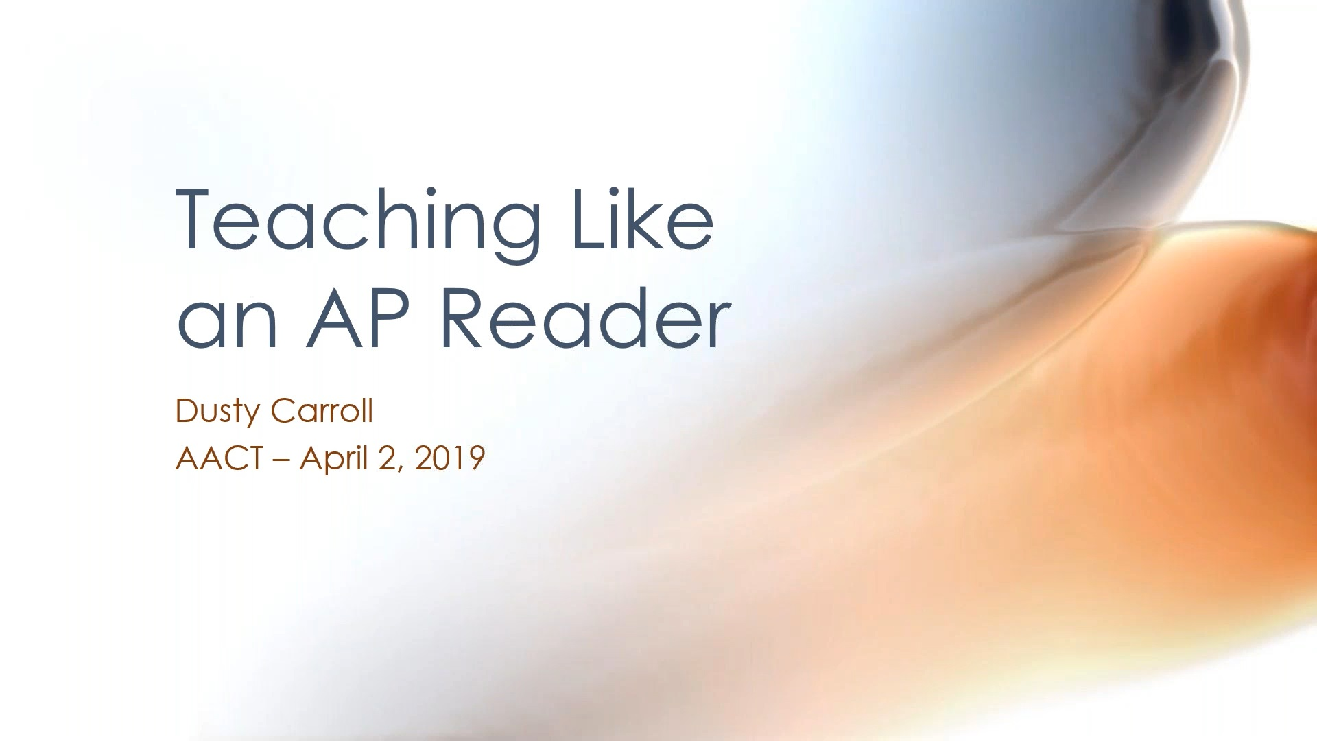 Thumbnail teaching like ap reader