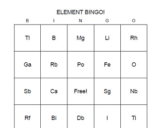 Element bingo may2020 cs