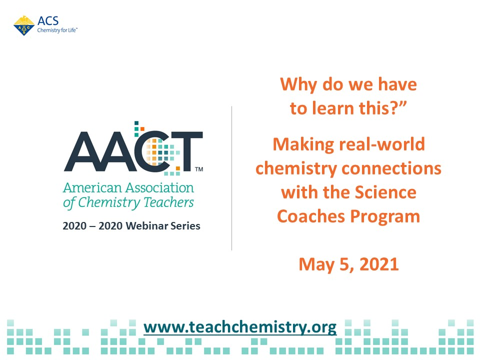 Webpage image science coaches 2021